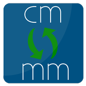 convert cm to mm | milimeter to centimeter icon