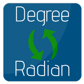 convert Degree to Radian | Radians to Degrees icon