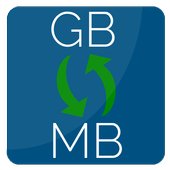 Convert GB to MB | Megabyte to Gigabyte conversion icon
