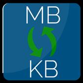 Convert KB to MB | Megabyte to kilobyte conversion icon