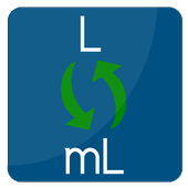 Convert L to mL | Mililiter to Liter conversion icon