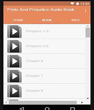 Pride And Prejudice Audio Book poster