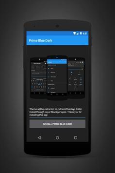 Prime Blue Dark - Layers Theme poster