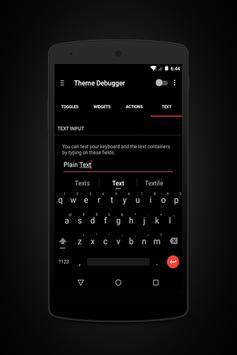 Prime Red Black - Layers Theme apk screenshot