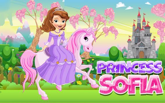 Princess Sofia with Horse poster