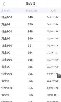 黄金价格 apk screenshot