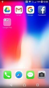 iLauncher Iphone X - iOS 11 Launcher screenshot 1