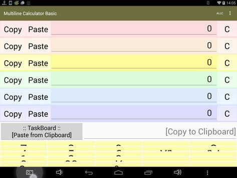 Multiline Calculator Basic apk screenshot