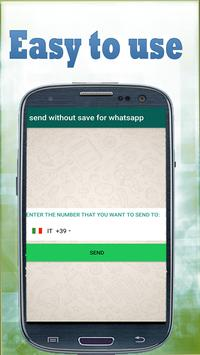 Send Whatsapp without saving contacts poster