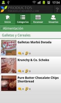 Productos Vegetarianos apk screenshot