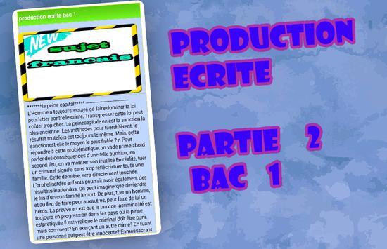 production ecrite francais jihawi poster