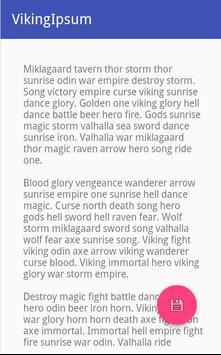 Viking Ipsum apk screenshot