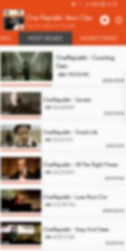 Hot Clips for One Republic Vevo screenshot 1