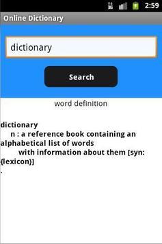 OnLine Dictionary apk screenshot