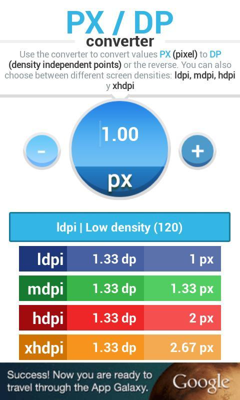 PX DP converter for Android - APK Download