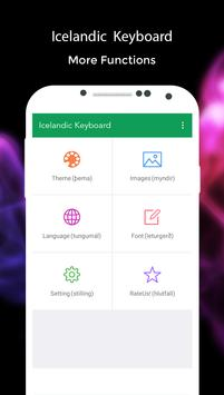 Icelandic Keyboard apk screenshot