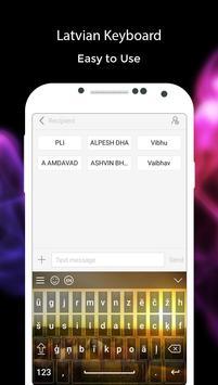 Latvian Keyboard poster