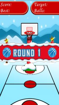 Santa Basketball Shot apk screenshot