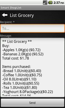 Smart ShopList screenshot 2