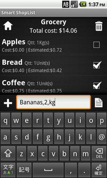 Smart ShopList screenshot 1