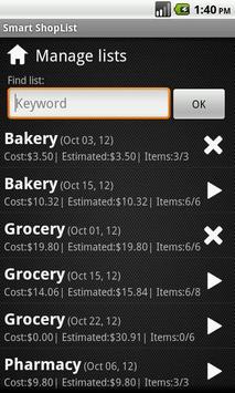 Smart ShopList screenshot 3