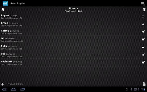 Smart ShopList screenshot 4