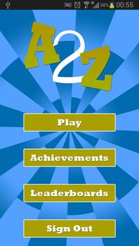 A2Z - Finger Tapping Game poster