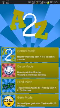 A2Z - Finger Tapping Game screenshot 1
