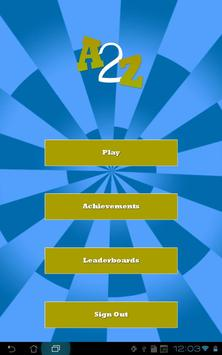 A2Z - Finger Tapping Game screenshot 5