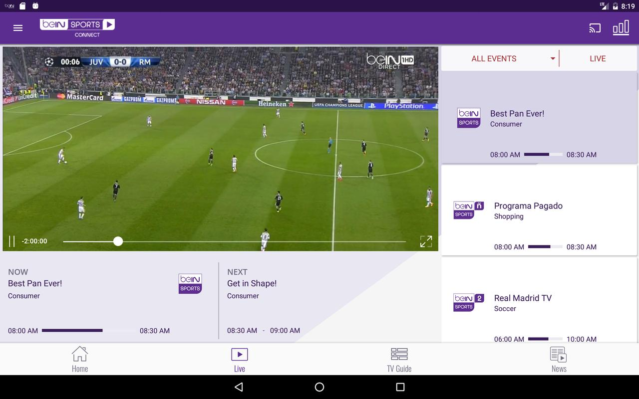 Bein Sports Connect Apk Download Free Sports App For