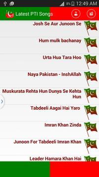 Latest PTI Songs apk screenshot