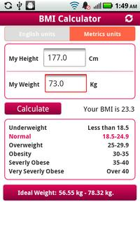 BMI Calculator Droid apk screenshot