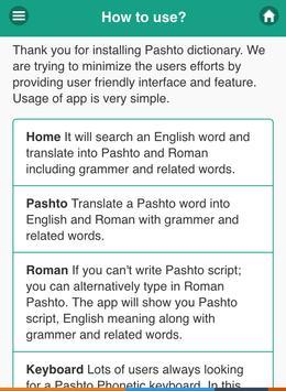 Pashto Dictionary Offline apk screenshot