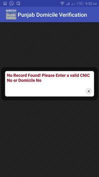 Punjab Domicile Verification apk screenshot