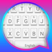 Pure White Theme&Emoji Keyboard icon