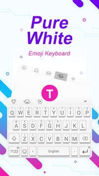Pure White Theme&Emoji Keyboard poster