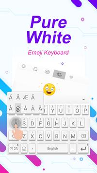 Pure White Theme&Emoji Keyboard apk screenshot