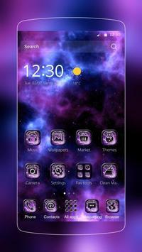 Purple nebula starry theme poster