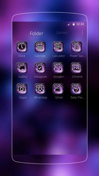 Purple nebula starry theme apk screenshot