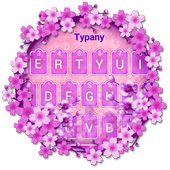 Purple Orchid Typany Keyboard Theme icon