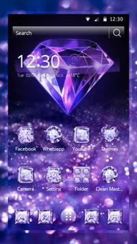 Purple Diamond Wallpaper poster
