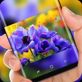 Purple Flower Keyboard Theme icon