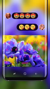 Purple Flower Keyboard Theme poster