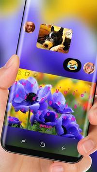 Purple Flower Keyboard Theme apk screenshot