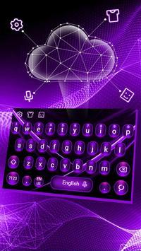 Purple Tech Keyboard Theme poster