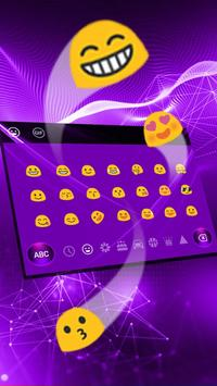 Purple Tech Keyboard Theme apk screenshot