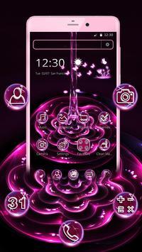 Purple Water Flower Theme apk screenshot