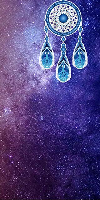 Purple Galaxy dream catcher live wallpaper für Android ...