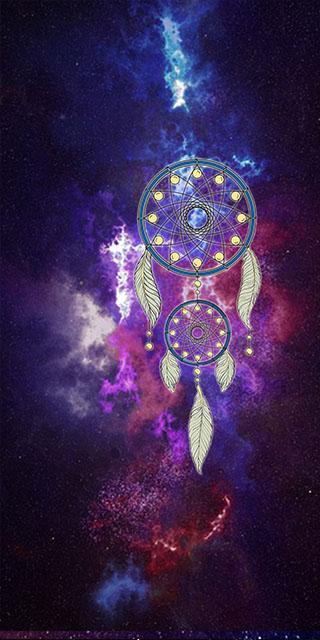 Purple Galaxy Dream Catcher Live Wallpaper For Android Apk