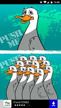 Push my duck poster